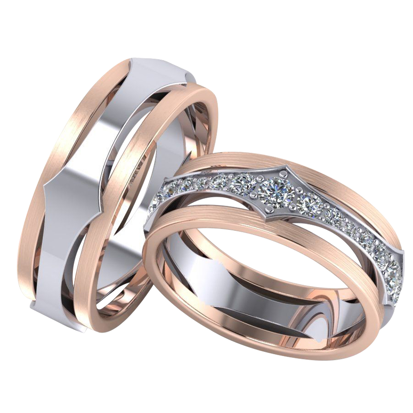 Gleaming Couple Ring