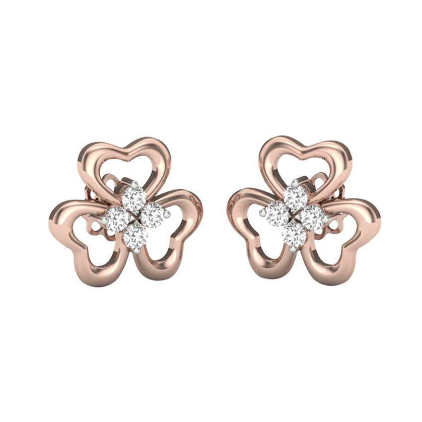 Flower Studs in Rose Gold
