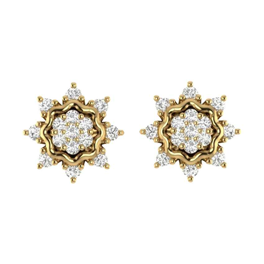 Complex Studs in Yellow Gold