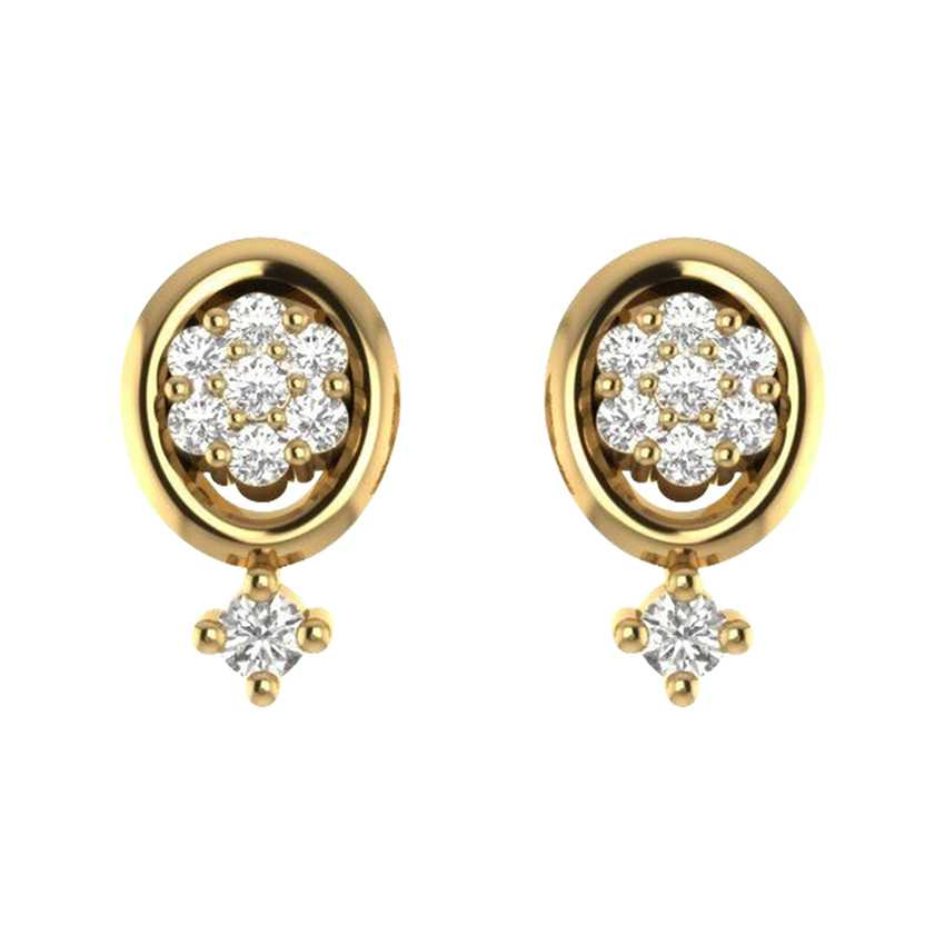 Oval-cut Studs in Yellow Gold