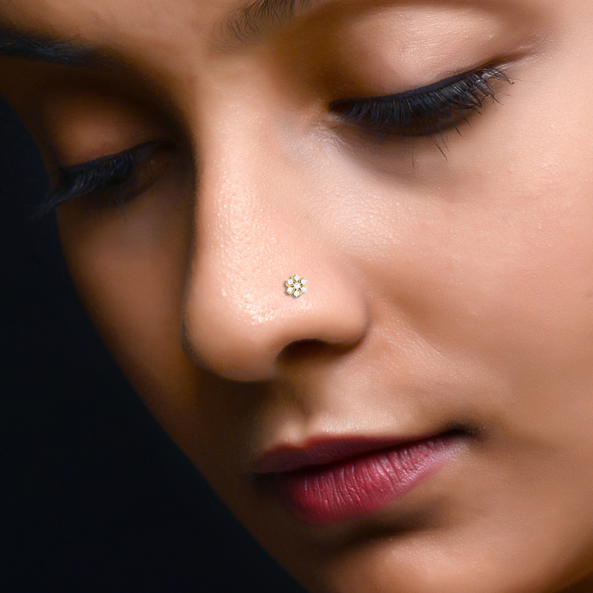 Floral Nose Pin