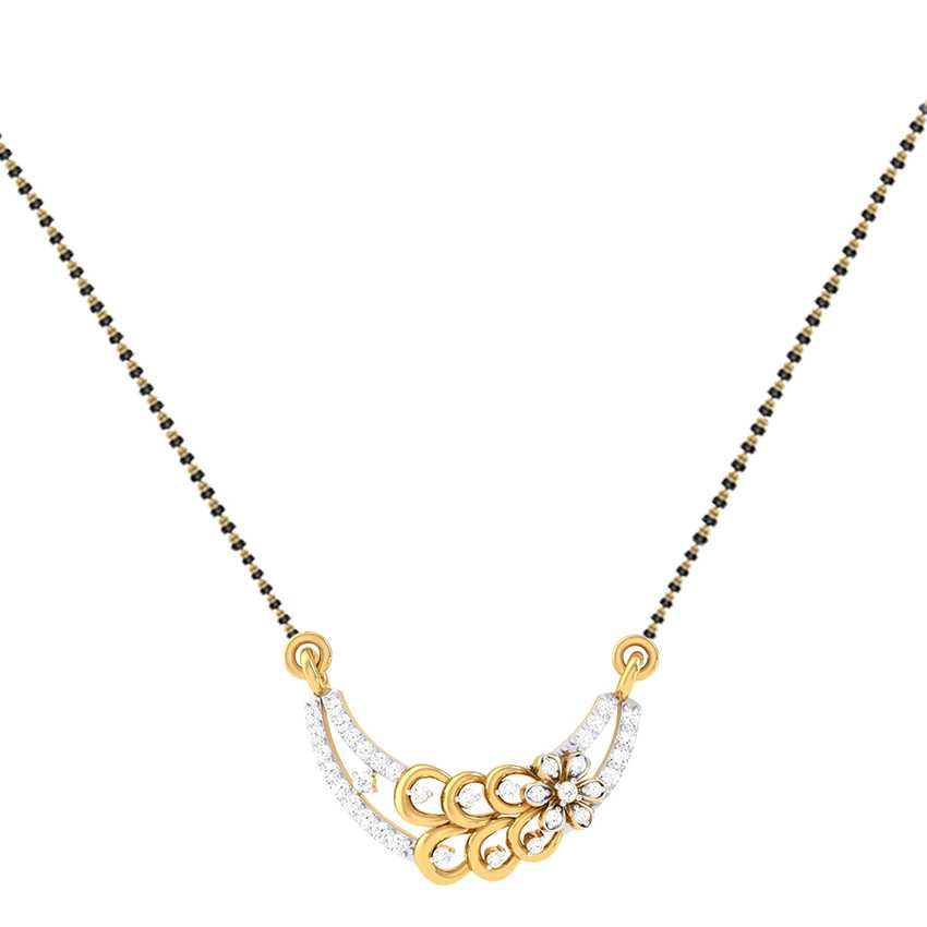 Aryistry Diamond Flower Mangalsutra