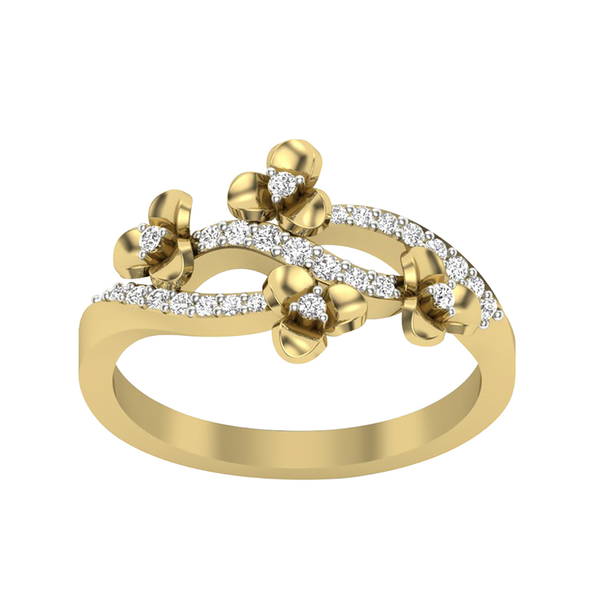 Gracious Diamond Ring in Yellow Gold
