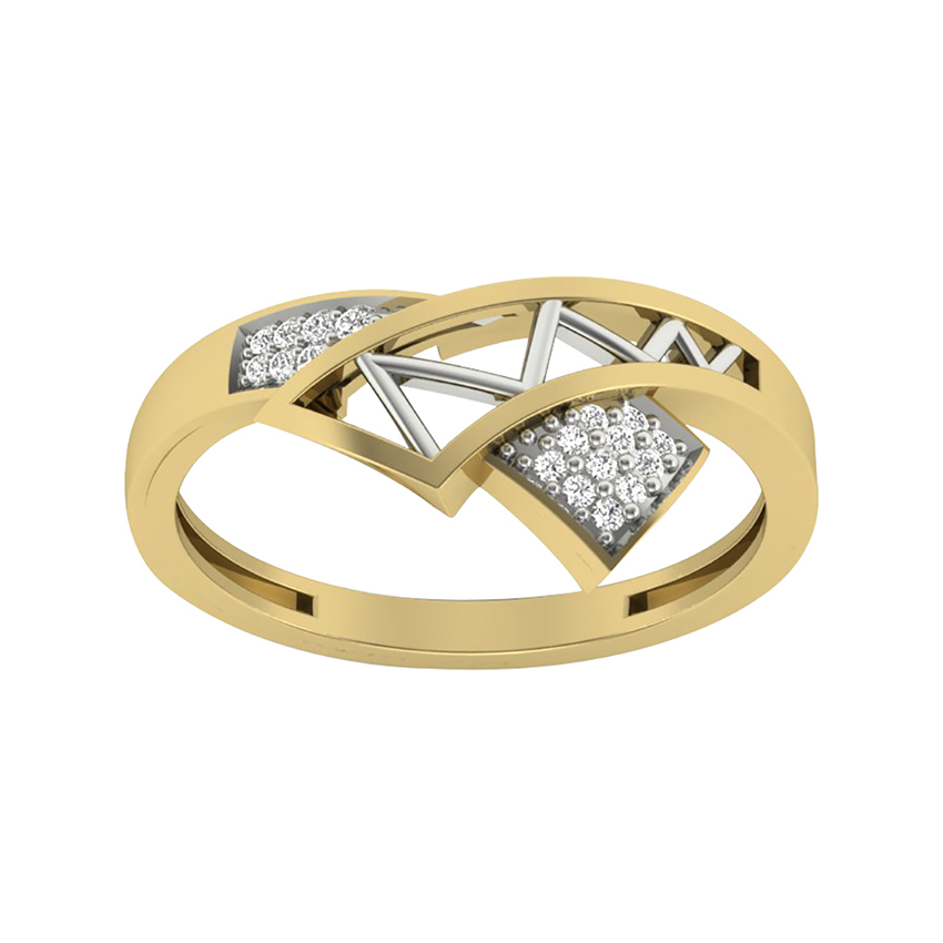 Fancy Diamond Ring in Yellow Gold