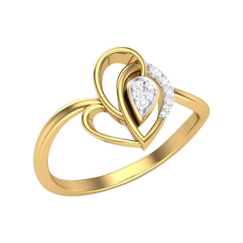 Daily Wear Diamond Ring in Yellow Gold
