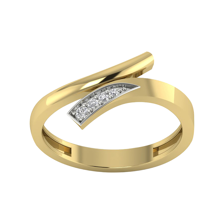 Workwear Diamond Ring in Yellow Gold