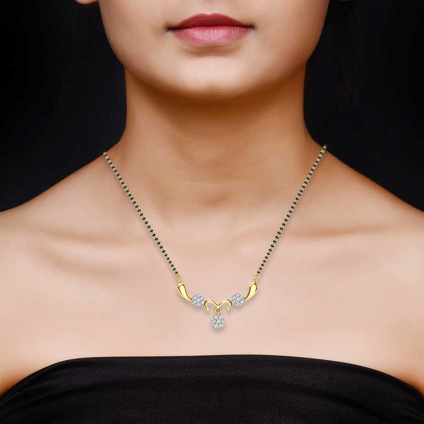 Clustered Diamond Mangalsutra