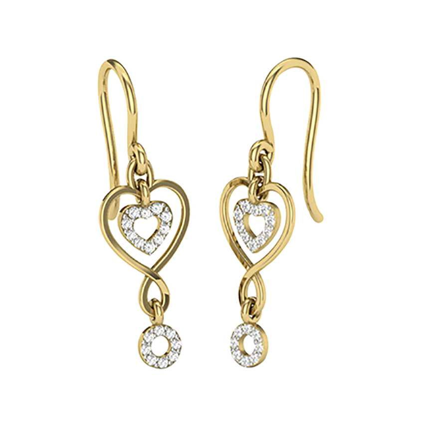 Heart Shaped Hangings in Yellow Gold