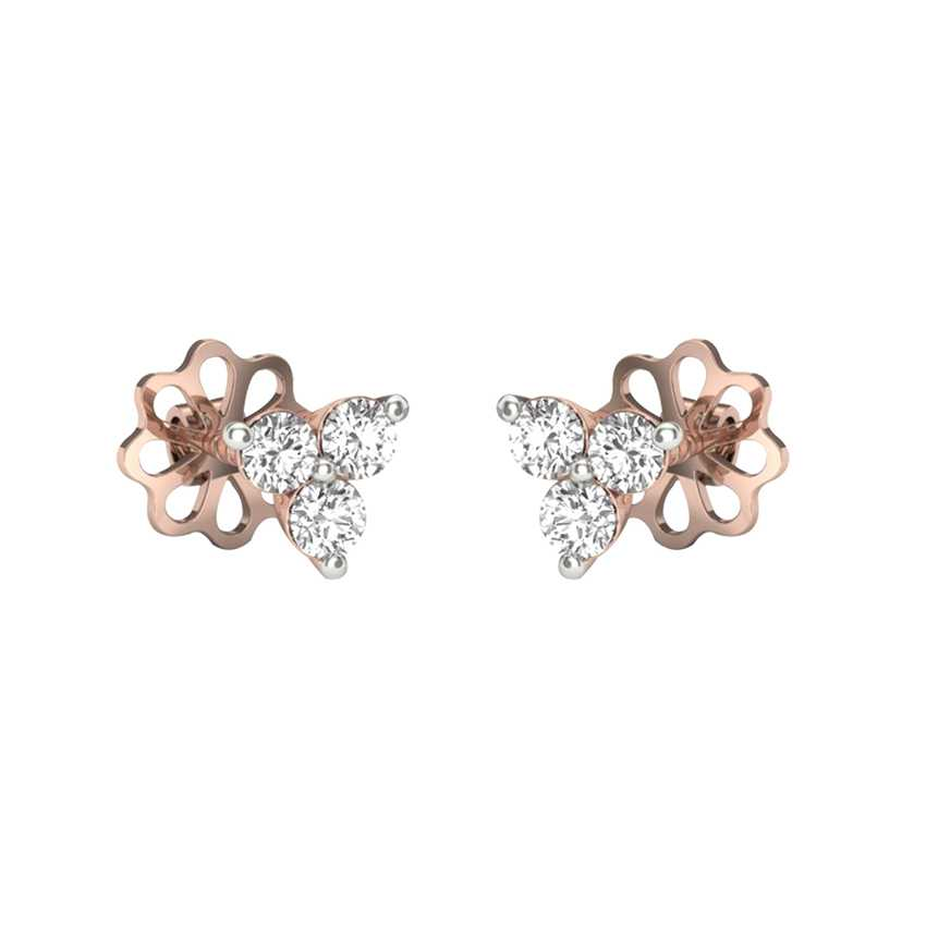 Cute Diamond Studs in Rose Gold