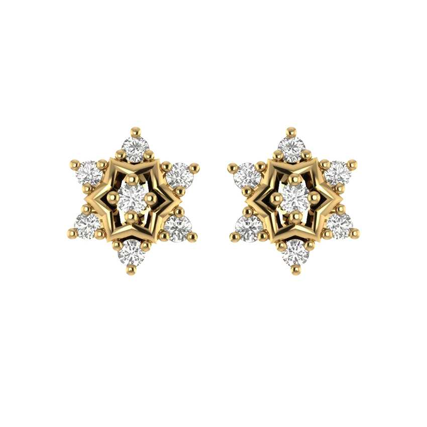 Sparkling Studs in Yellow Gold