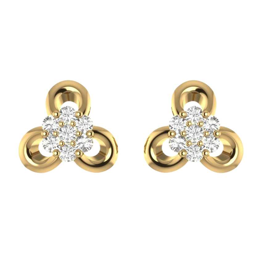Delicate Studs in Yellow Gold