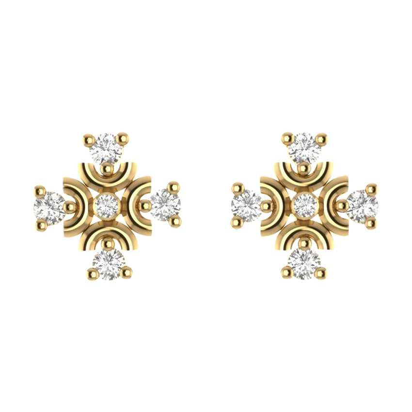Unique Studs in Yellow Gold