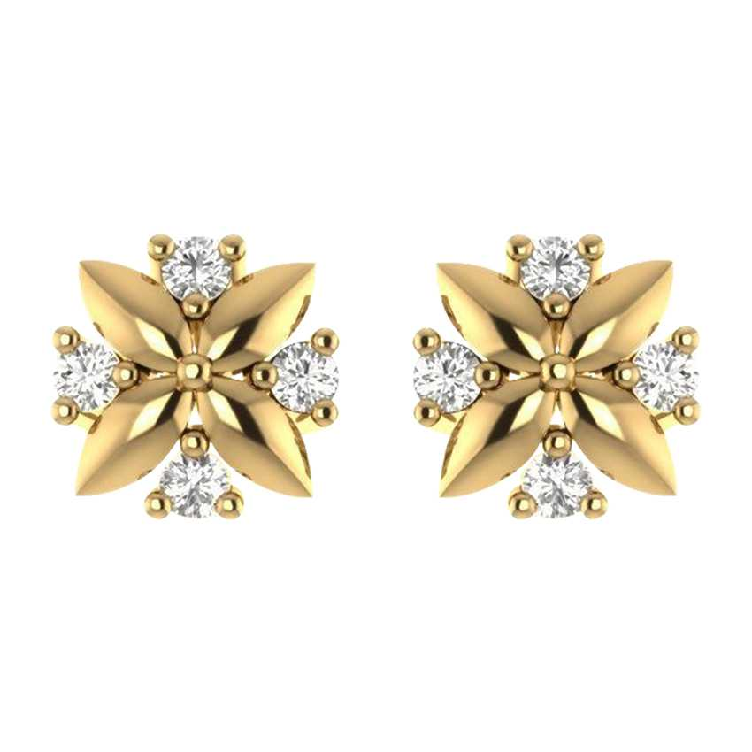 Edgy Studs in Yellow Gold