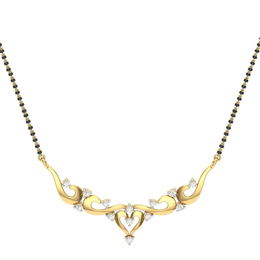 Light Weight Diamond Mangalsutra