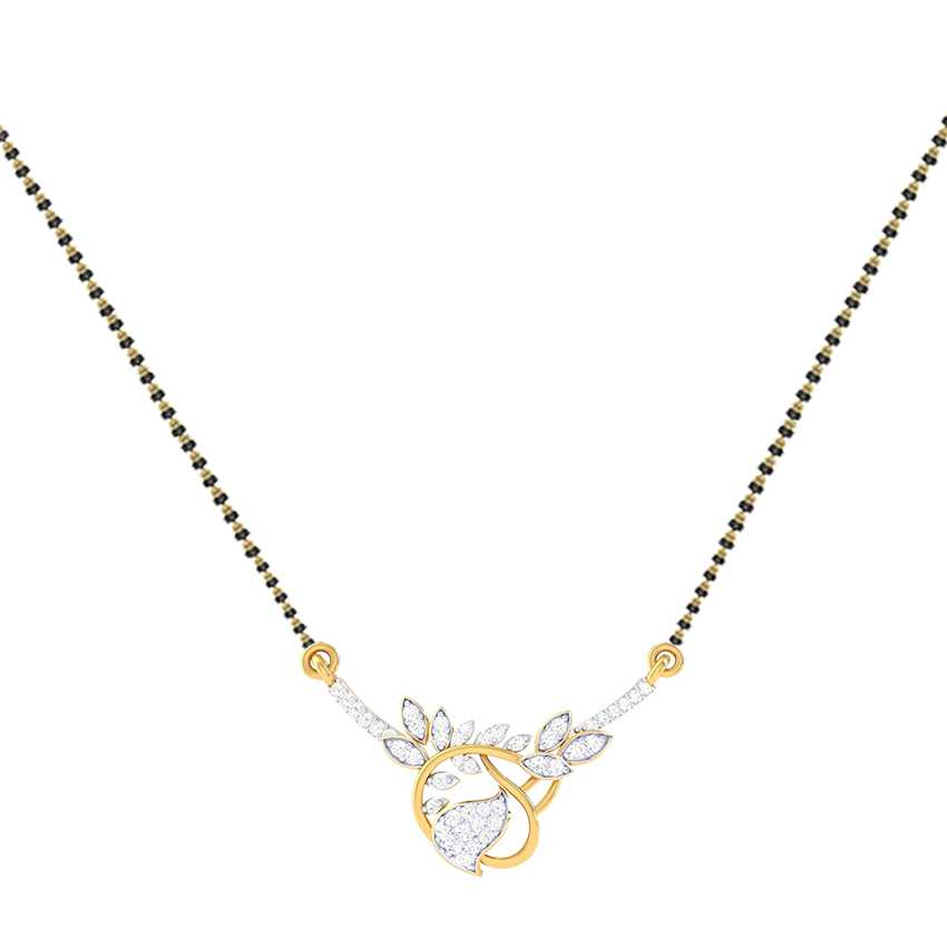 Diamond Mini Leaves Mangalsutra