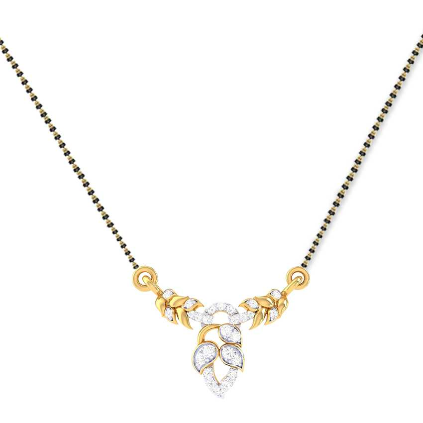 Diamond Mangalsutra in Floral Beauty