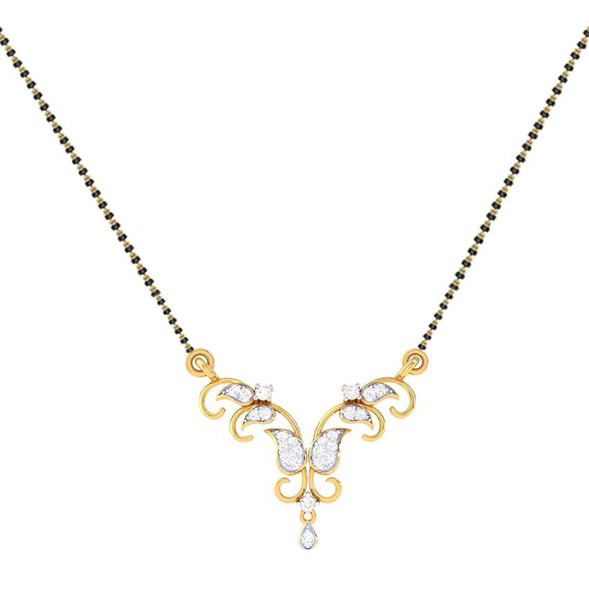 Trendy Butterfly Daily Wear Mangalsutra