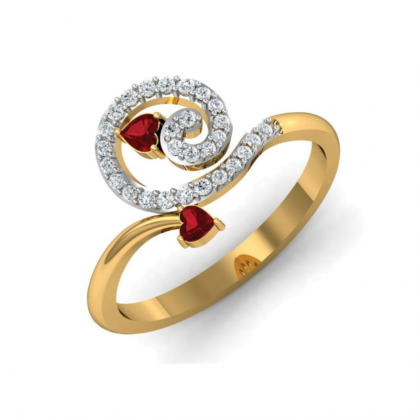 GOLD RINGS WITH STONES