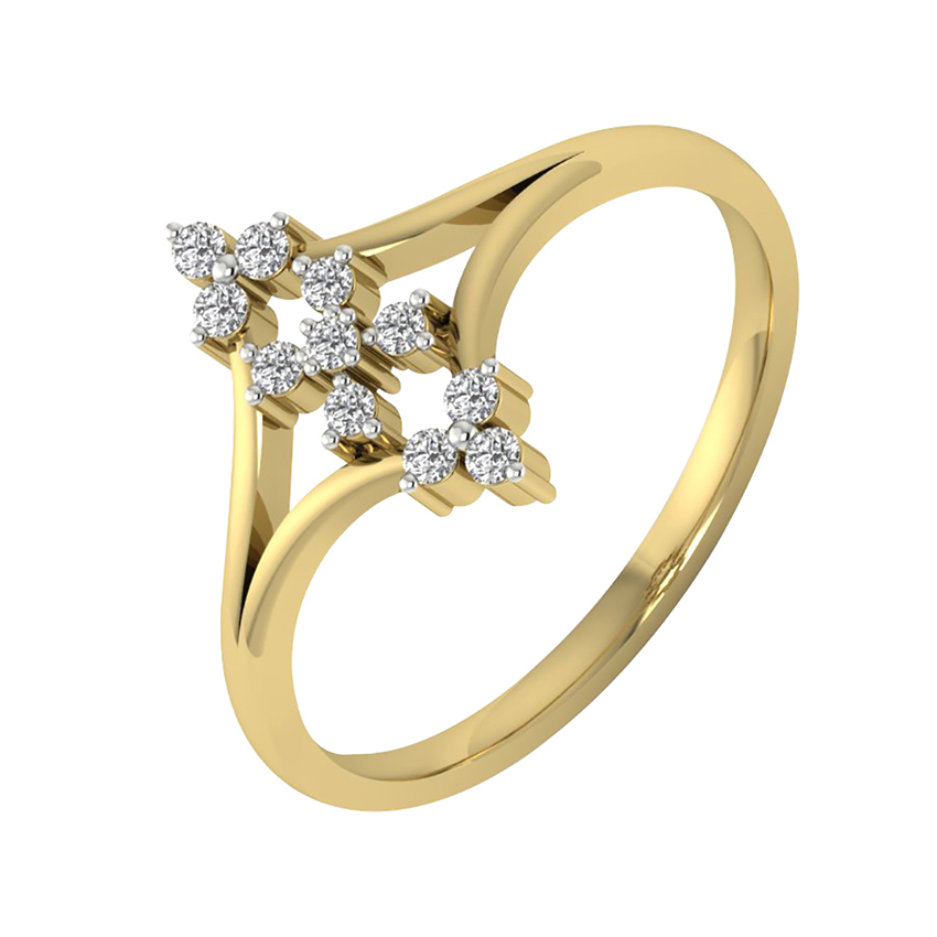 Stunning Diamond Ring in Yellow Gold