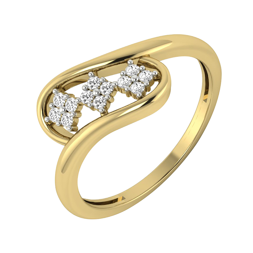 Unique Diamond Ring in Yellow Gold