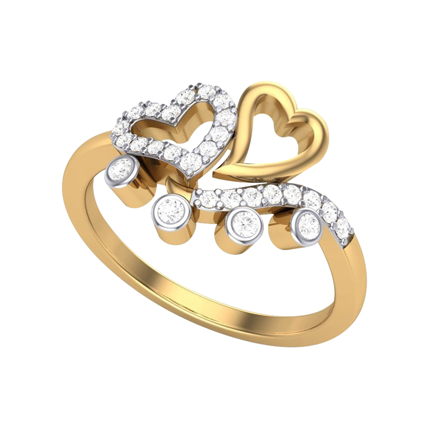 Lovely Diamond Ring in Yellow Gold