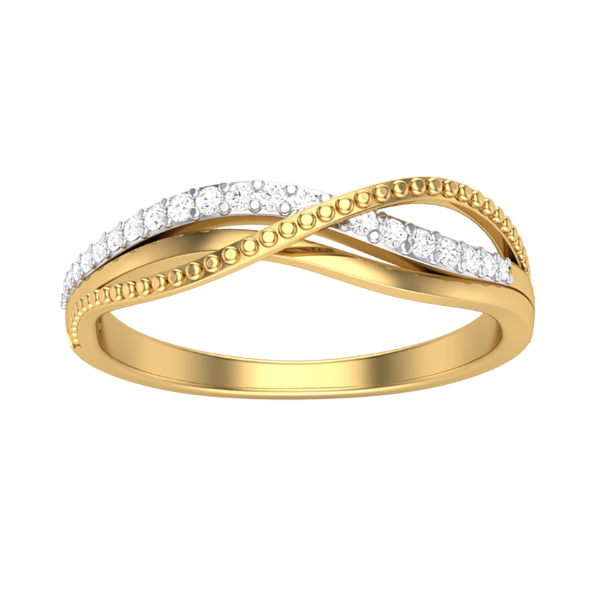 Simple Diamond Ring in Yellow Gold