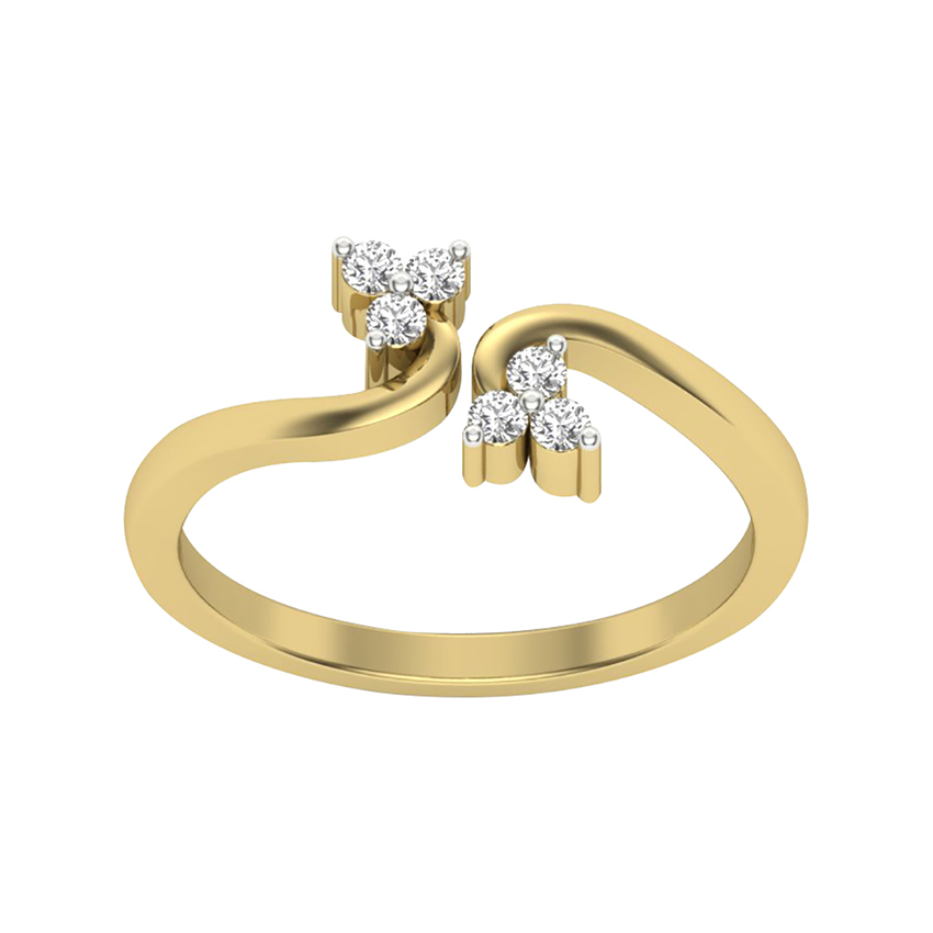 Delicate Diamond Ring in Yellow Gold