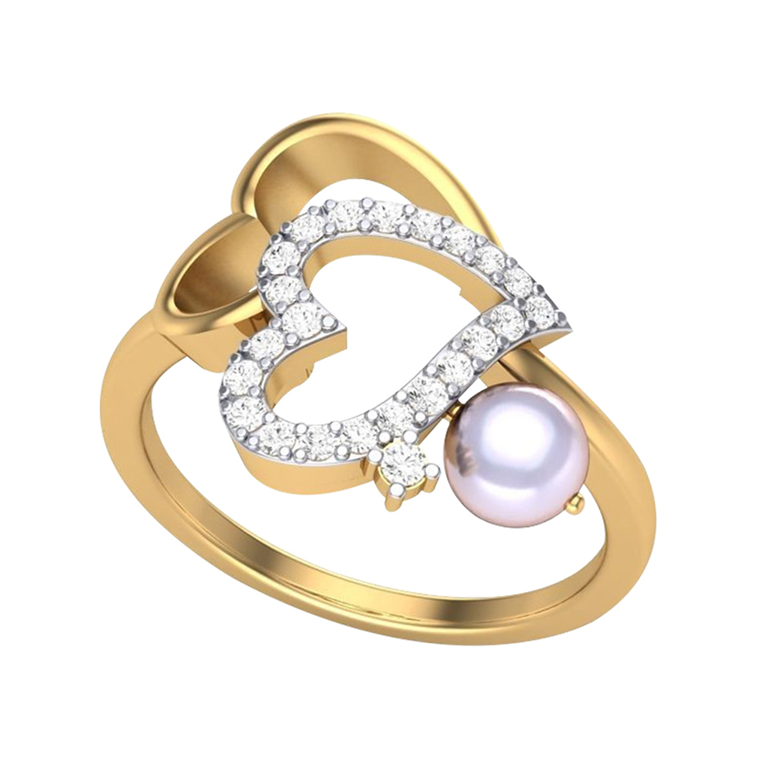 Love Ring in Yellow Gold with Pearl